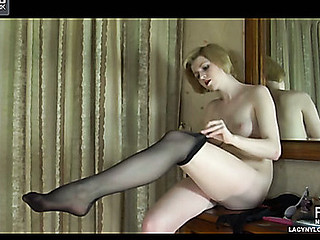 Alina enervating sexy nylons