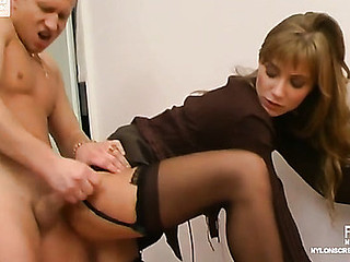 Diana&Adrian lascivious nylon video