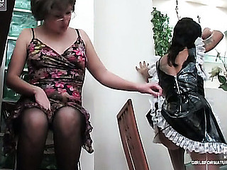 Elvira&Subrina pussylicking mama on movie scene