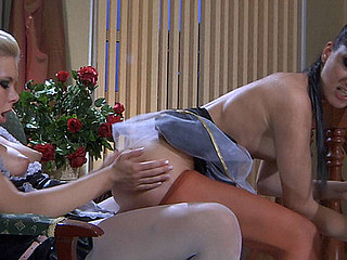 Madeleine&Virginia pantyhosing on movie scene scene