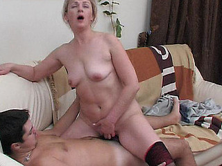 Aged and experienced nurse gives a guy the superlatively worthy therapy with her wet beaver