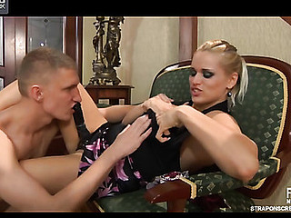 Armed with a ding-dong bossy chick gets worshipped by her anal-craving sub