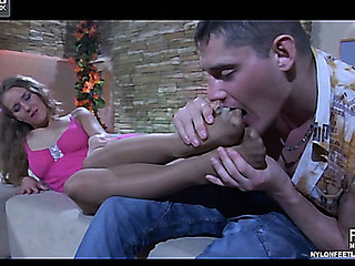 Barbara&Claudius nylon footfuck action