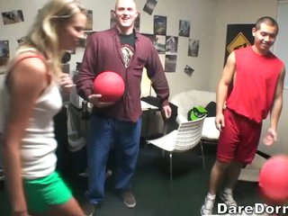 Impressive college ball playing dodgeball