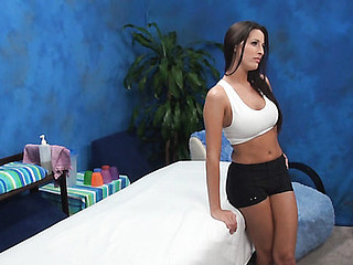Sporty hotty got what to expose and that babe is going to demonstrate all of delights to masseur and to have good pounding with him! This Chick came to the saloon not to receive the massage only if telling the truth.
