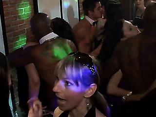 Group sex wild patty at night club