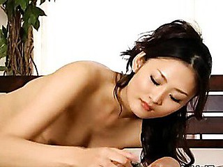 Sexy Oriental College Cutey Pie Deep throats On Janitor Penis.