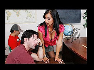Charles is not paying attention in class one time one more time and this time Professor Love had it with his lack of focus. After the third warning this chick takes matters into her own hands! 2 large pantoons in her own hands to be precise and ravages 'em in his face. After that little wake-up call, Charles downright attentive! Well at least for the following thirty minutes.