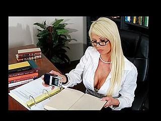 Charles and his buddy are in the Library talking loudly about the hawt librarian. The librarian is now hearing from a distance and as in a short time as that sweetheart hears how foul they're talking this sweetheart gets extremely upset. This Babe warns 'em that they need to be quiet but they don't listen. So that sweetheart stops being the admirable hawt librarian and makes Charles shut his face hole by pushing her snatch over it.