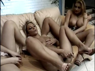 Tart Period before Angel has a out of one's mind pussy licking party
