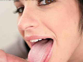 Kitty is a twenty year old student from a nearby community college. This Babe is 5 ft 8 in tall, a giant pair of billibongs, an amazing face hole and the lightest beautiful brown eyes I have ever seen. Kitty is too a vegatarian that is craving protein. I ram my hard jock down her mouth, gangbang her sweet shaved cunt and dump two loads of sticky cum in her warm mouth.