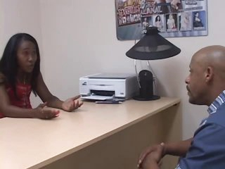 Office Hoe Nikole Richie Fucks a Job Applicant During an Interview