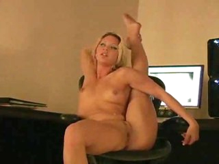 Assured and limber blonde shows off