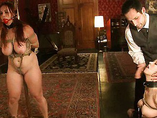 Hot sexy babe's sexy helpers drilled and punished in bondage.