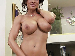 Hefty breast mother I'd like to fuck Lisa Ann is picture consummate when you look down at her fondling your balls and salivating all over your dick. Those juggs draping under her as that stunner strokes your knob and sucks the entire way up and down along the edge of your dong. Be a sport and give her the mouthful that stunner is pleading for!