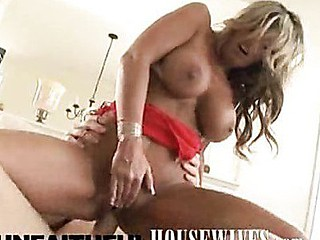 Kristal Summers gets fucked hard on the couch by her gentleman caller, and for her hard work taking that big dick, that hottie gets a creamy facial yummy treat. That's a cutie.