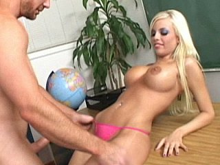 Fresh dame at school and she's got huge bra-stuffers
