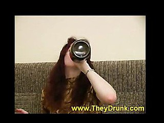 That Hottie drinks and plays bare