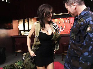 April Oneil acquires off on 'serving her country' in any way this babe can. Since that babe isn't much of a soldier and is way too bad a bluffer to ever make it as a spy, the most good way for her to do her duty is by boosting the morale of the many marines who have taken turns fucking her!