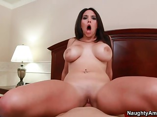 Bedroom fun with large meloned Missy Martinez