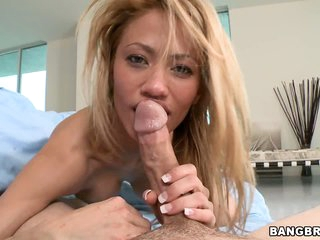 Jandi Jenner rides wang after great blowjob!