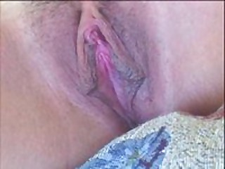 Hot fuckable chick has nice pink pussy lips and a sexy clit. She groans as her pussy lips and clitoris get licked and sucked on close up. Makes you hot!