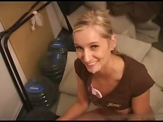 Cute Czech Blonde Takes a Nice Millstone Of Jizz On Her Face
