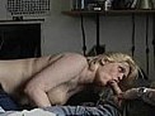 golden-haired playgirl sucking cock