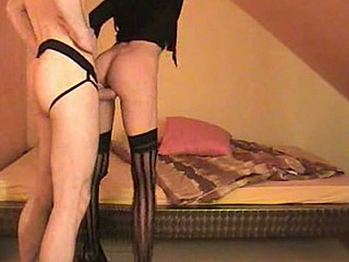 German skinny whore receives fucked and jizzed on in this amateur intimate sex video. U can see her suck cock and take it up her alley until that guy feels the urge to jizz all over her perky tits.