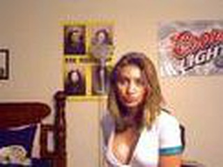 Girl strips for web camera