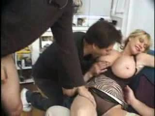 Giant tits milf in stockings pounded in cunt
