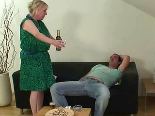 His mother in law takes his knob