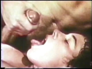 Retro Porn Legend John Holmes Copulates and Facializes a Slut's Hairy Pussy
