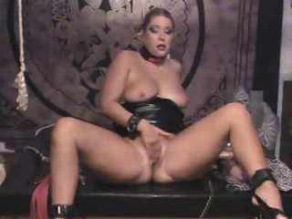 In the brush personal dungeon toying the brush pussy