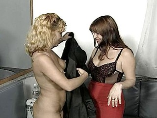 Hot sapphic in undies gives a hot rubdown and 69s this stud friend