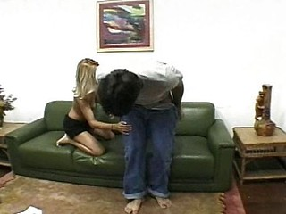 Tight Brazilian blondy gets their way botheration gaped open by a big learn of