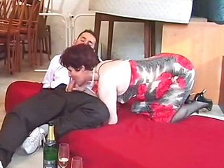 Aged Damsel Banged In The Ass By Waiter