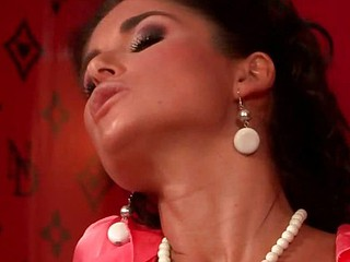Nessa Devil in a lesbo piss scene!? That's right, and her partner in wet crime is none other than pornstar Daria Glower! The one and the other of these babes are looking incredible in their satin blouses and stockings, and when they spread their legs wide