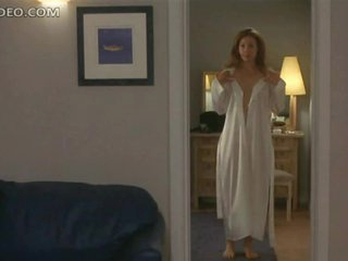 Heart-Stopping Golden-haired Babe Alex Kingston Shows Her Bush and Breast