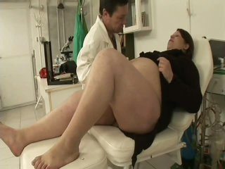 Silver-tongued BBW Banged By Her Gynaecologist