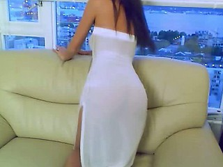 Sheer white dress