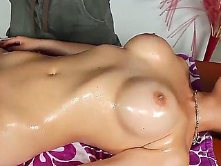 Right after giving Sarah Vandella a sensual oil massage, lusty Danny Mountain acquires to fuck her pussy
