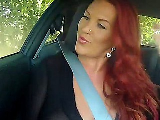 Red head sexual goddess Paige aka Ruby Rubber is exceptional and unequalled lady with her 38F-27-36 figure