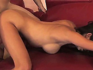 Dark brown Layla Rivera gets enduring fucked from behing forwards swallowing a successfully load
