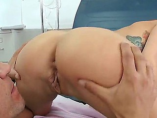 Horny doctor Marco Banderas teases and seduces sweetheart Monique Alexander into hard fucking with him