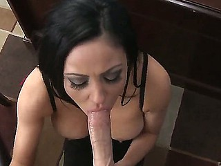 Delicious brunette babes Audrey Bitoni down an increment of Raven Bay made sex party for three-some down Johnny Sins