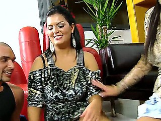 Naughty Jasmine Black,Rye with the addition of Sheila Grant are playing lusty undress poker during hardcore orgy sex