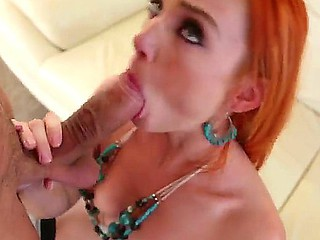 Hawt Dani Jensen is giving her sexy neighbor Mick Blue wild blowjob with vigorous cock riding