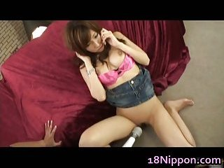 Well-endowed teen Serina Hayakawa enjoys intercourse toys