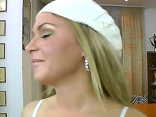 Delightful young blonde with teensy-weensy bumpers